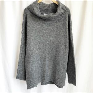 Old Navy dark grey cowl neck knit sweater